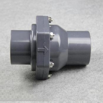 Zawór zwrotny pcv 50MM wewnętrzna klapa z tworzywa sztucznego DN25 DN32 DN40 DN50 zawór uniwersalny pionowy poziomy tanie i dobre opinie Niskie ciśnienie 25 32 40 50 Standardowy Normalna temperatura Wody non-return Valve