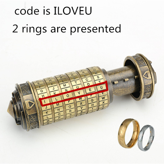 [Nouveau] Leonardo da Vinci jouets éducatifs métal Cryptex serrures idées cadeaux vacances noël cadeau à marier amant évasion chambre - 3