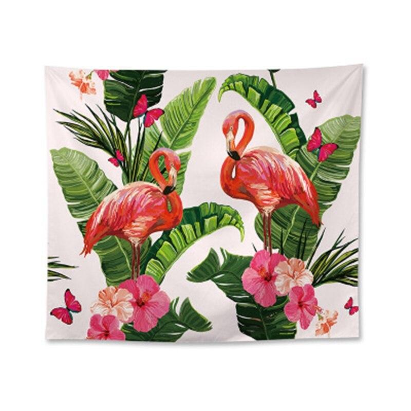 Nordic Plant Muur Doek Polyester Flamingo Decoratie Opknoping Wandtapijten Wedding Party Gift Strandlaken Yoga Picknick Mat