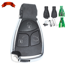 KEYECU Smart Remote Key Fob 3 Button 433Mhz for Mercedes-Benz +Uncut Blade