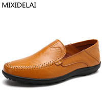 2017 New Comfortable Handmade Leather Shoes Casual Mens Flats Design Men Driving Shoes Soft Bottom Leather