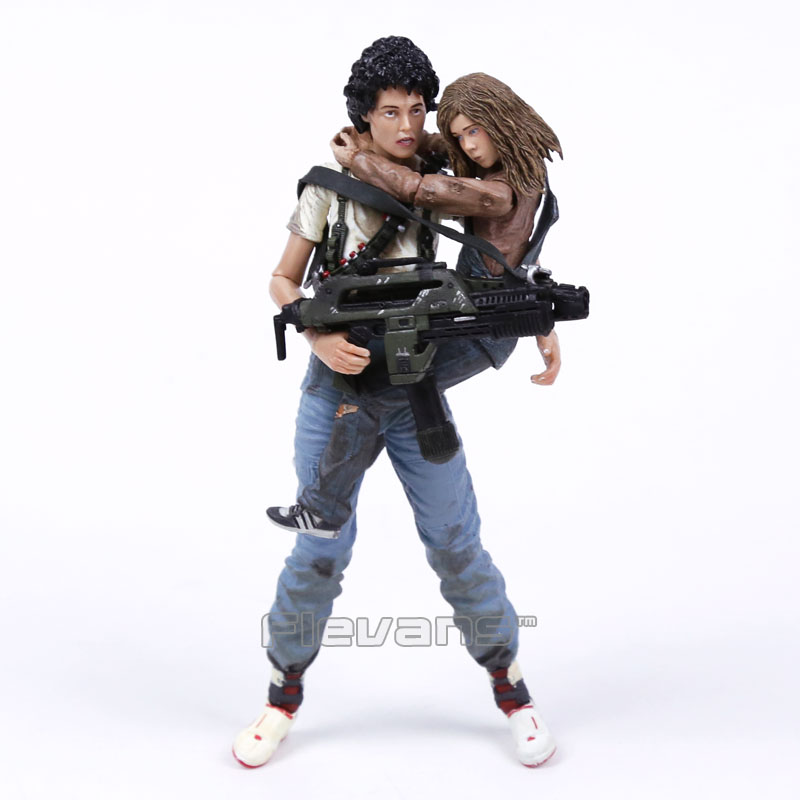 NECA Alien 2 This time it's war Ellen Ripley & Newt 30th Anniversary PVC Action Figure Collectible Model Toy 2-pack 7 18cm neca 7 god of war kratos action figure pvc doll model collectible toy gift