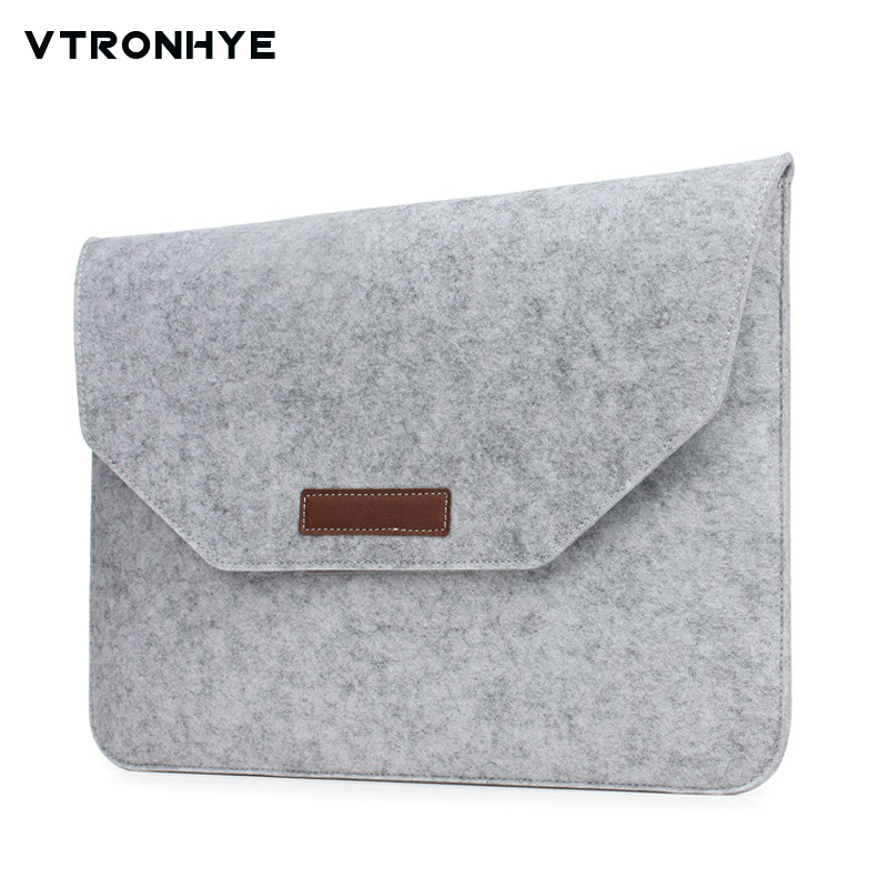 Laptop Sleeve 11 13 14 15.4 15.6 17.3 inch Ultra Slim Wool Felt Laptop Bag Pouch Case for Macbook Huawei HP Dell Laptop Bag 17.3 image