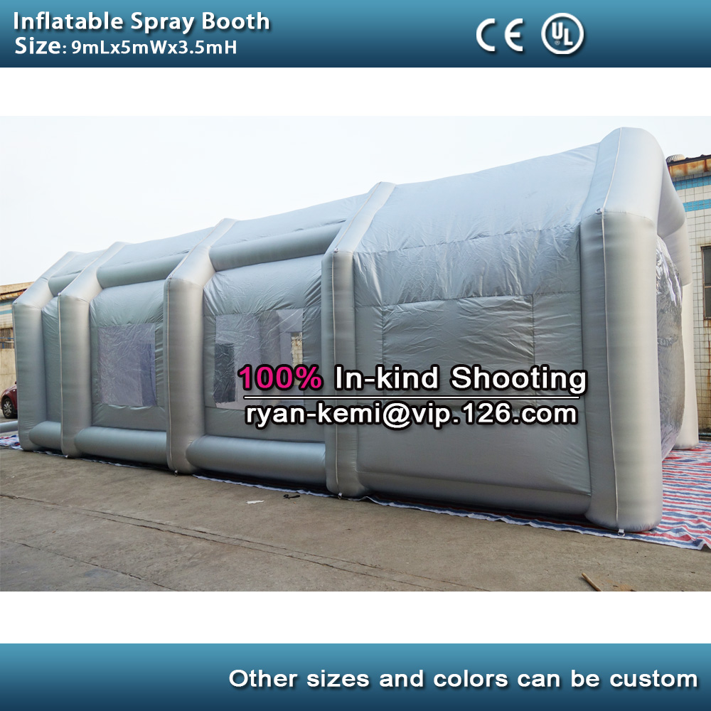 все цены на Free shipping 9m inflatable spray booth inflatable paint booth tent inflatable car spray booth for sale онлайн
