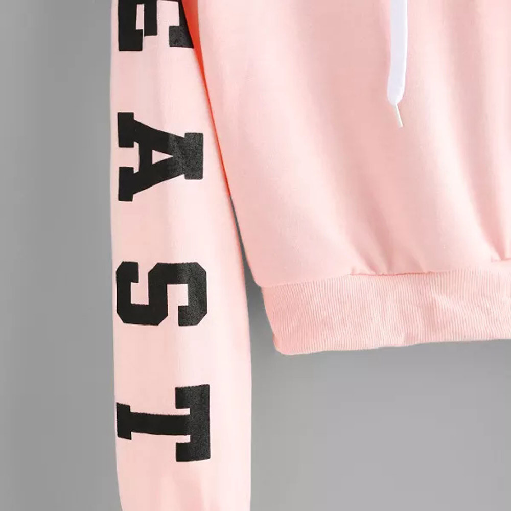 KANCOOLD Top Sweatshirts Women Letters Long Sleeve Hoodie Sweatshirt Pullover Tops Causal high quality sweatshirt women 18DEC6 11