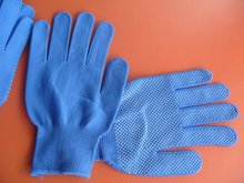 где купить Free shipping 12 Pairs Nylon dot plastic Palm Slip-resistant/wear resistant  safety protecting  work gloves in competitive price по лучшей цене
