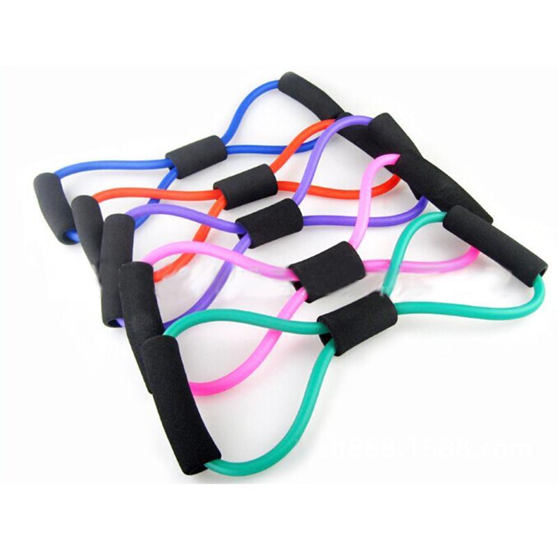 8 Тип Йога тянуть веревку трубка латекса тренировки мышц сопротивление группы эластичный тянуть веревку тренажерный зал Фитнес оборудования Цвет случайный