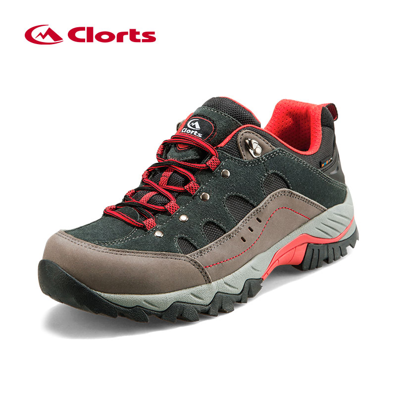 Clorts Trekking Shoes for Men Waterproof Hiking Shoes Suede Leather Men Mountain Shoes Outdoor Shoes HKL-815A/B