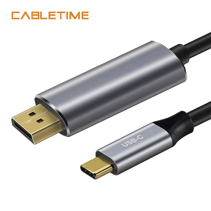 Cabletime USB C to DisplayPort Adapter Cable 4K 60Hz Type C USB 3.1 Thunderbolt 3 to DP 1.3 UHD External Video 1.8m N101