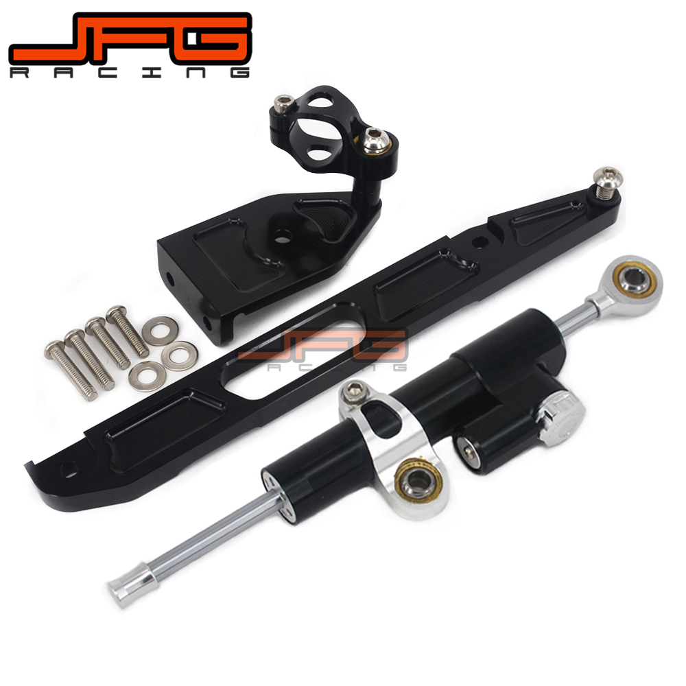 CNC Steering Damper Stabilizer Linear Reversed Safety Control & Adapter Bracket For YAMAHA XJR1300 XJR 1300 2002 2003 2004-2015 cnc steering damper stabilizer linear reversed safety control & adapter bracket for honda cb400 cb 400 vtec 1999 2000 2001 2012