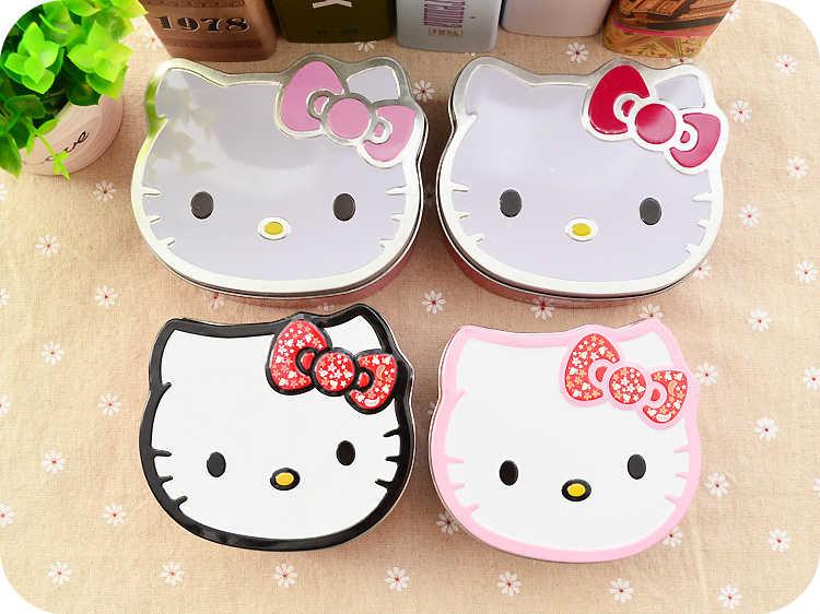 Из мультфильма Kitty Cat железные жестяные коробки, футляр. Коробка для хранения Органайзер для ювелирных изделий дети конфеты подарок товары для дома. контейнер. Домашний декор.