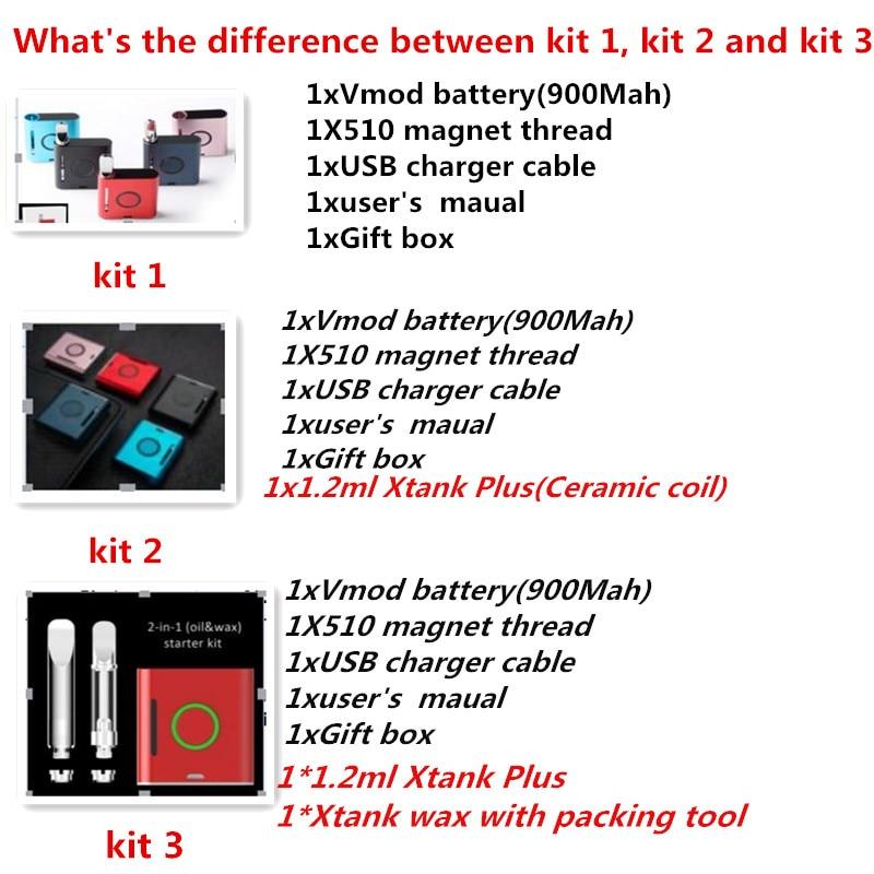 US $16 93 7% OFF|100% Original Vapmod VMOD 2 In 1 vape kit 900mAh Preheat  Battery Electronic Cigarette 1 2ml tank Wax Xtank Plus tank Vaporizer-in