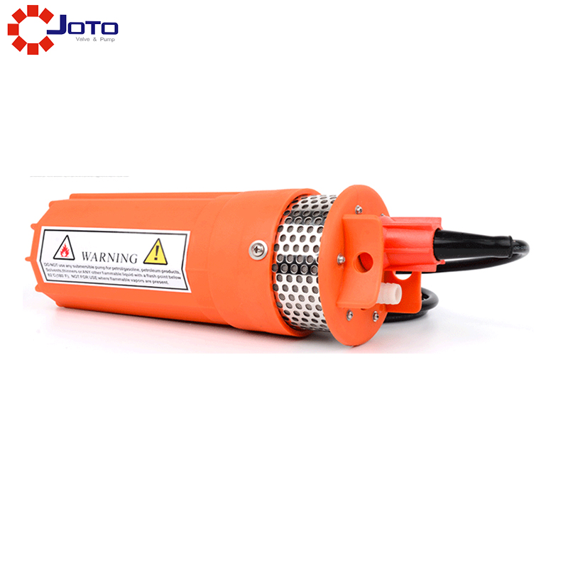 Long Life DC 24V small diameter solar submersible pump 51mm dc 12v water oil diesel fuel transfer pump submersible pump scar camping fishing submersible switch stainless steel