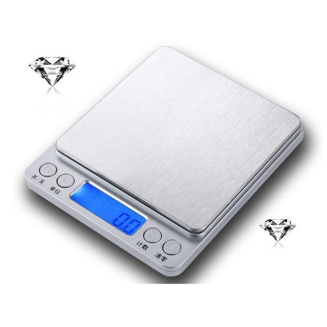 3000g/0.1g Portable Mini Electronic Digital Scales Pocket Case Postal Kitchen Jewelry Weight Balance Digital 500g/0.01g   DT6