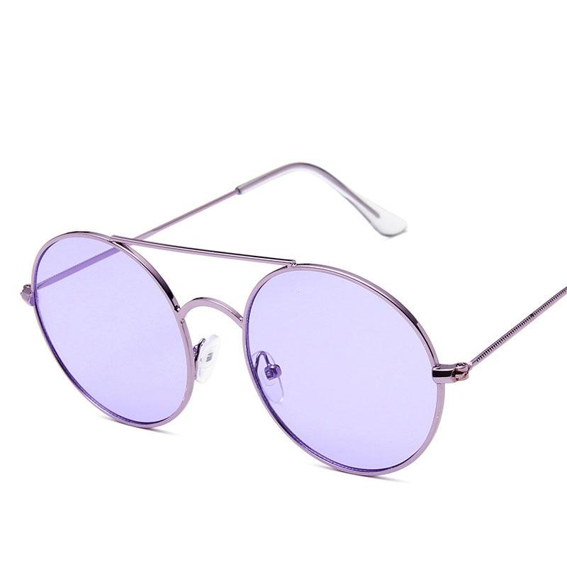 2019 New Women's Sunglasses Fashion Metal Round Frame Colorful Men Glasses Popular Model Multicolor Famous Design Latest