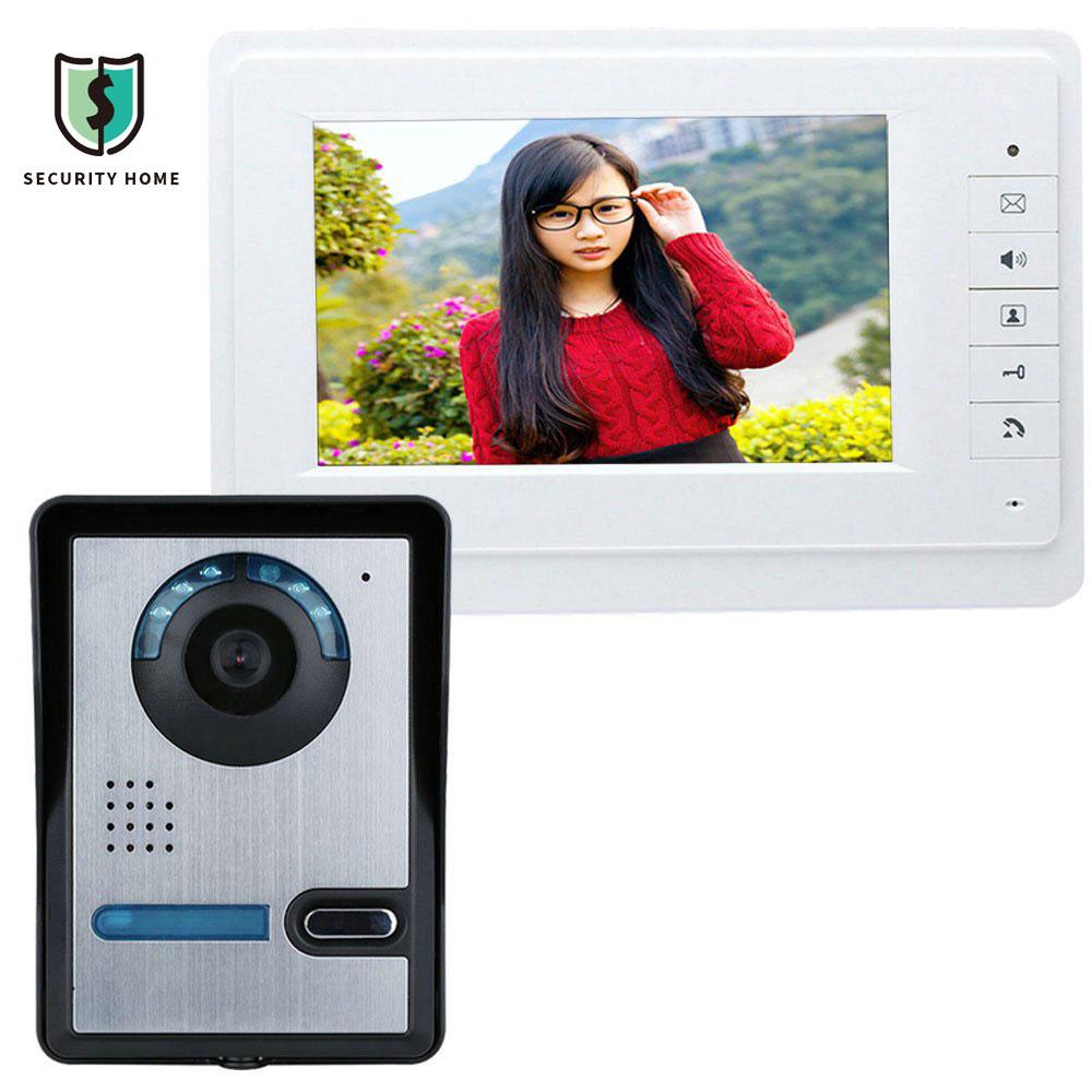 SY819FA11 7 Inches HD Doorbell Camera Video Intercom Door Phone System Security Camera Intercom With Monitor