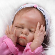 22 Soft Solid Silicone Reborn Baby Doll Realistic Babies Newborn Fashion Safe Classic Toys Children Birthday
