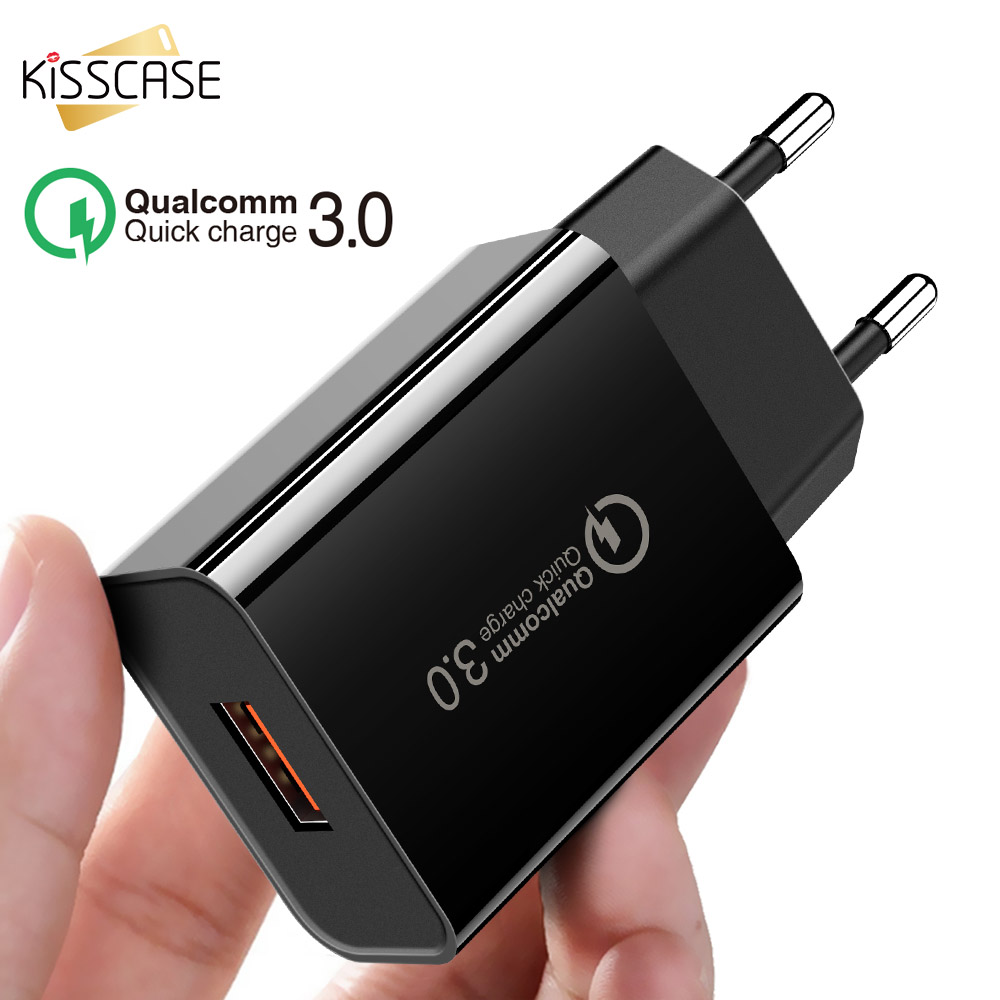KISSCASE Universal 3.0 USB Charger For Iphone X 7 8 EU Quick