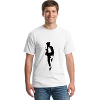 2017 New Mens T Shirt Homme Michael Jackson Printed Custom Logo Straight Tee Shirt Male Blank