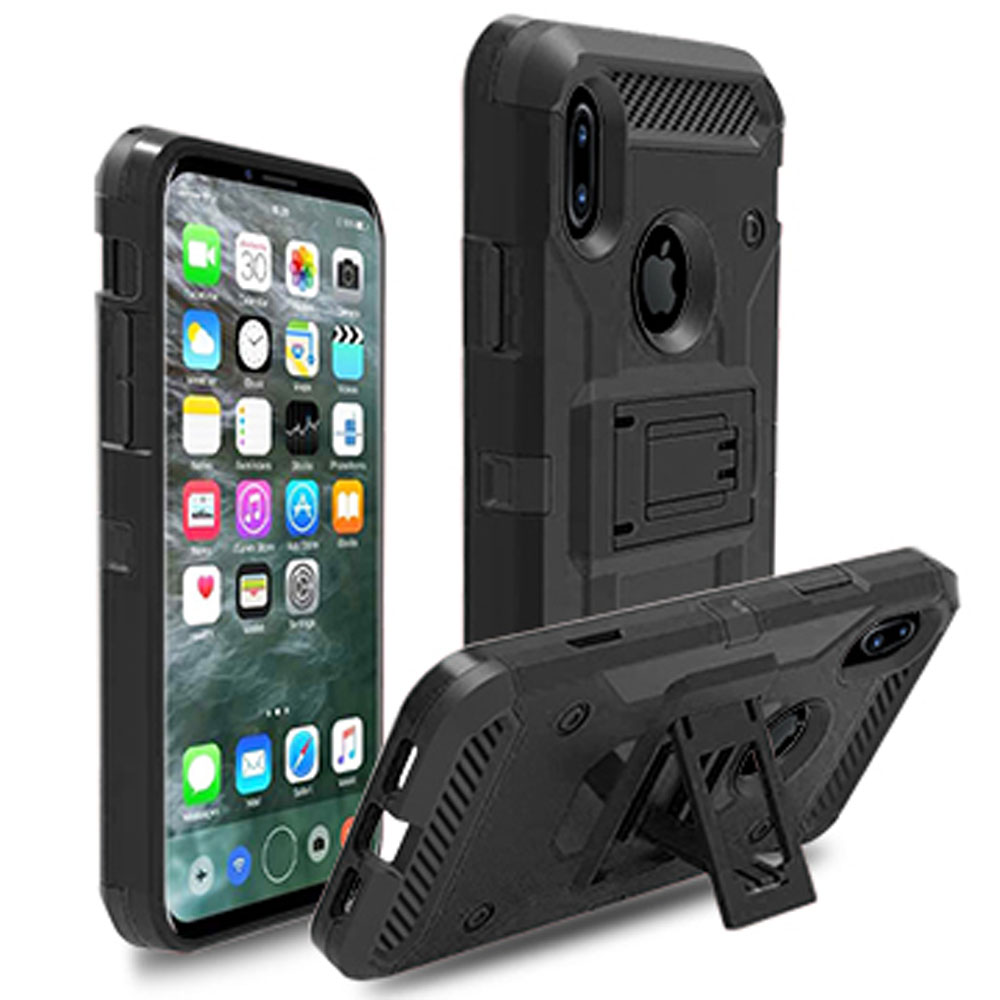 For iPhone X Case Heavy Duty Hybrid Rugged Case With Belt