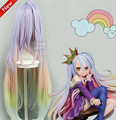 High Quality Heat Resistant Shiro Wig Anime No Game No Life Cosplay Wigs Long Ombre Ponytails Sexy Synthetic Hair