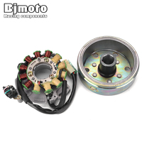 Motorcycle Coil Ignition Magneto Stator Flywheel For Yamaha Banshee350 YFZ350 1987 1988 1989 1990 1991 1992 1993 1994 Moto Rotor