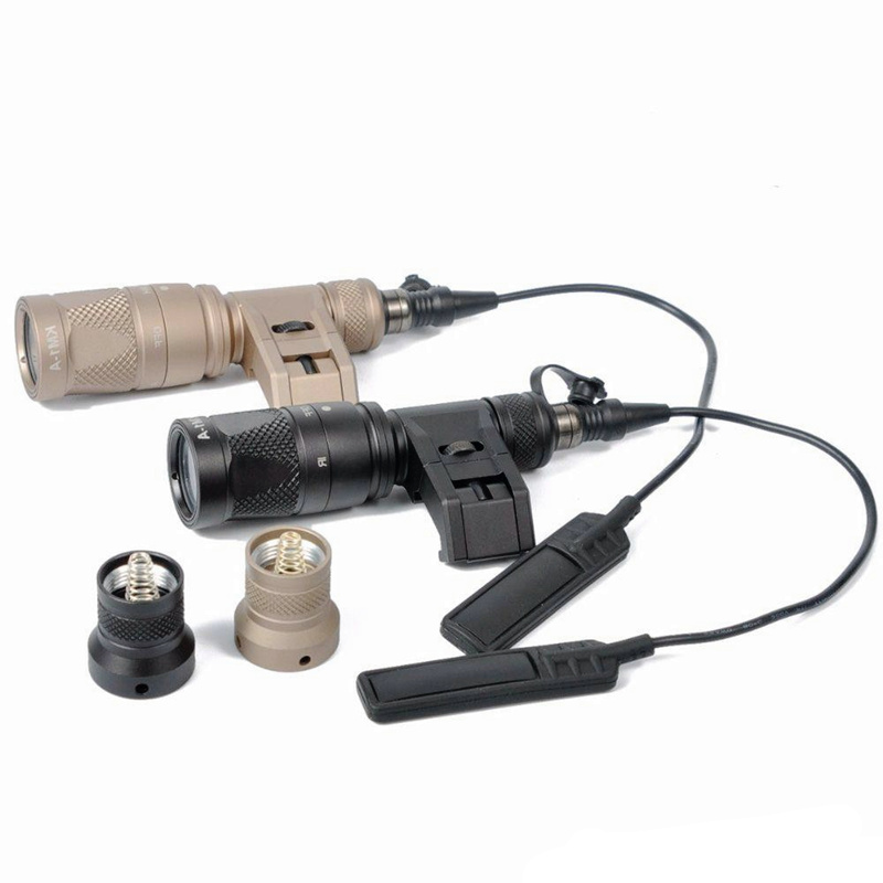 CQC Tactical Airsoft M300V SCOUT Light LED Flashlight Gun Weapon Light Outdoor Hunting Rifle Light element airsoft hunting military led weapon light flashlight pocket for rifle m952v gun tactical black 180 lumens ex 192