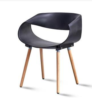 Solid wood dining chair modern minimalist home leisure back desk chair. nordic iron dining chair modern minimalist dining chair leisure chair desk chair