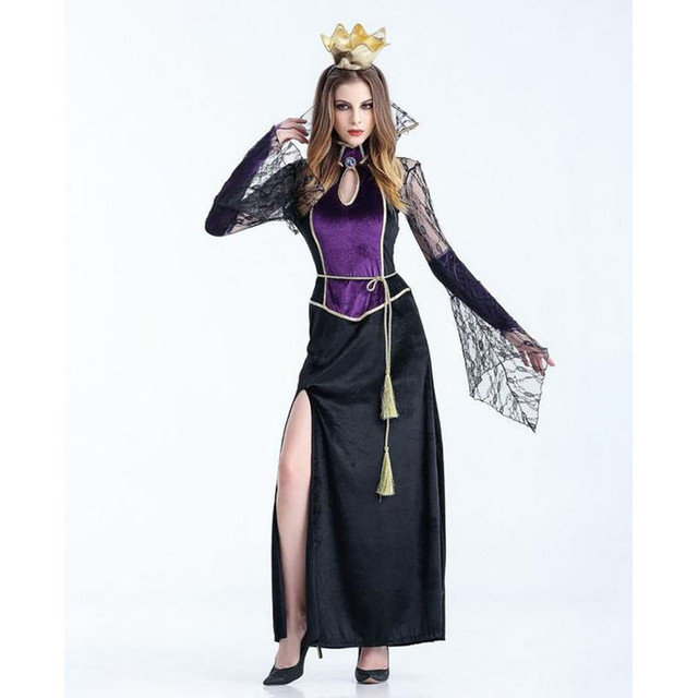 sexy costume halloween dress costume sexy witch with the crown costume women masquerade party halloween cosplay