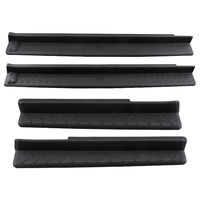 4pcs Set ABS Car Styling Door Sill Entry Guard Scuff Plate Step Protector For Jeep Wrangler