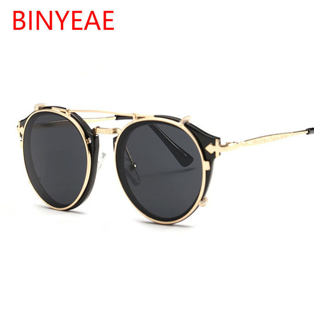 ee6cd5cd710 double lens sunglasses steampunk famous brand sun glasses mirror rose gold  glasses vintage retro eyewear female Shadow oculos