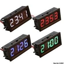 Clock Voltage-Meter Temperature Digital Electronic LED Car 24V 12V 48v 36v