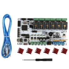 3D Printer Rumba Motherboard + Tmc2208V1.0x6 Marlin Firmware Compatible With Ramps For Arduino 3d printer control panel mks smelzi melzi lcd2004 set marlin firmware 3d mainboard motherboard