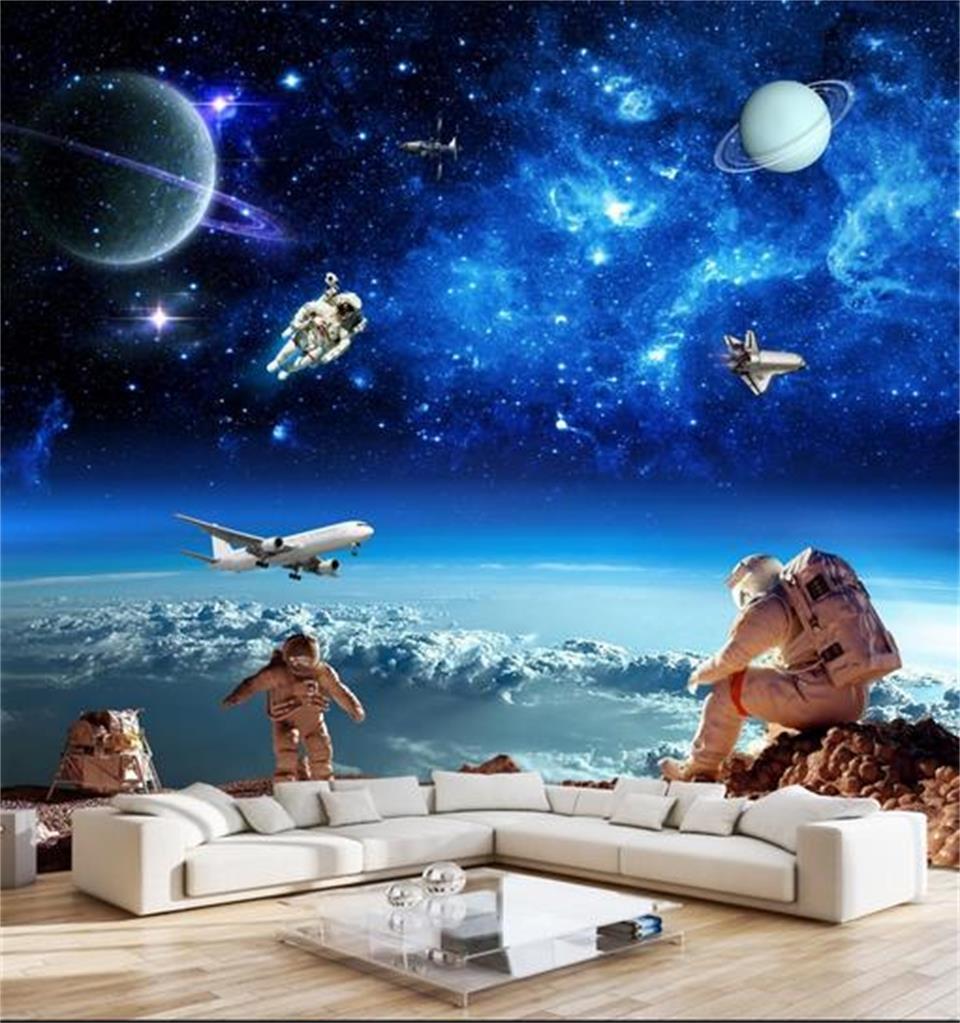 3d Foto Papel De Parede Personalizado Mural Quarto N O Tecido Do  -> Imagens Do Universo Para Papel De Parede