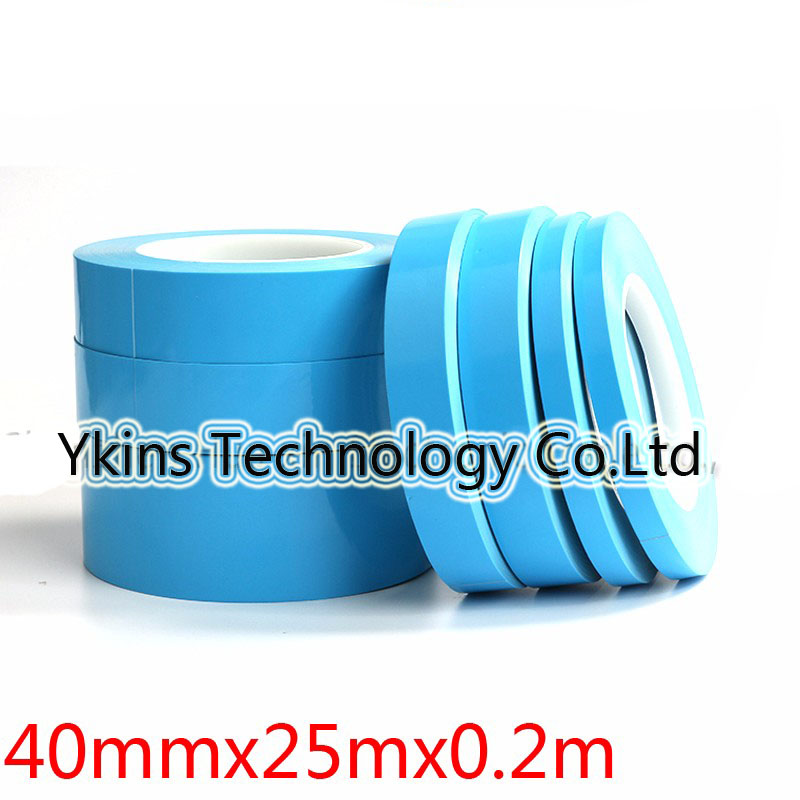 40mm*25m Glass fiber Thermal double-sided adhesive tape Thermal Thermally Conductive Tape heat conduction Tape for LED PCB glass fiber tape measuring scale of 20 meters tape measurement tools