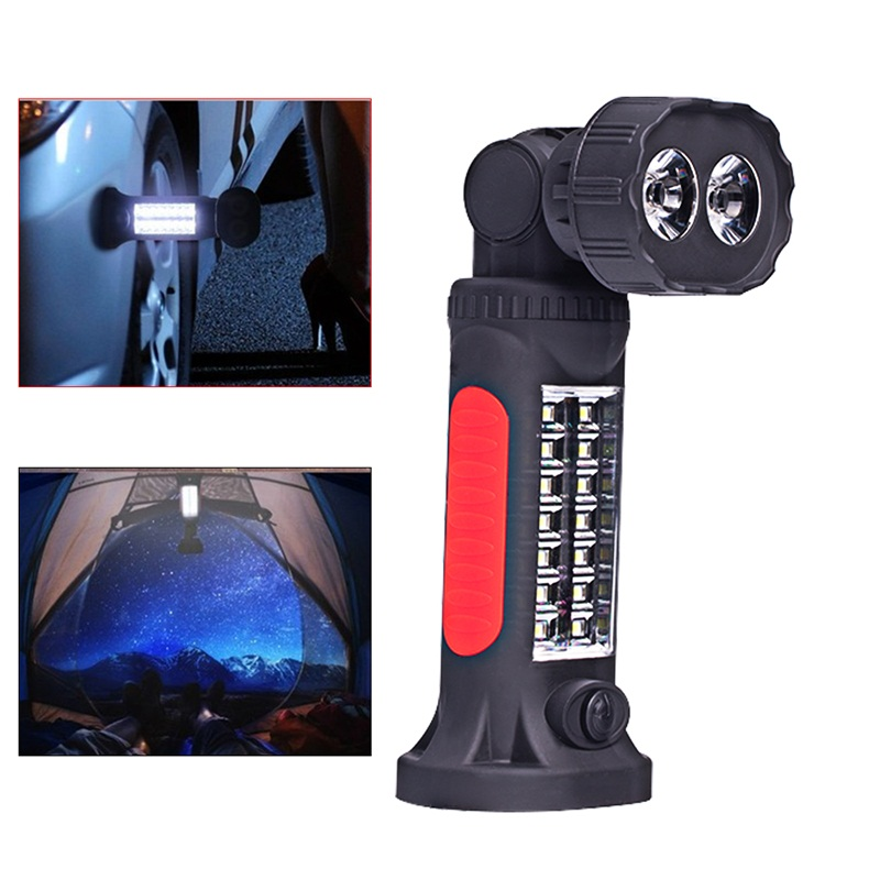 Magnetic Led Torch Hand Lamp Car Truck Inspection Repair Work Light For Camping Fishing Portable Lighting High Quality