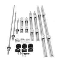 SBR 16 Linear guide Rail 6 set SBR16 300/1500/1500mm + ballscrew RM1605 SFU1605 350/1550/1550mm+BK/BF12+Nut housing CNC part
