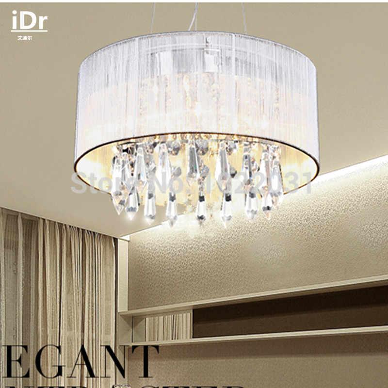 Диаметр ручной работы ткань K9 хрустальные люстры; престижная Атмосфера светильники современные лампы высококлассные Dia300xHe185mm