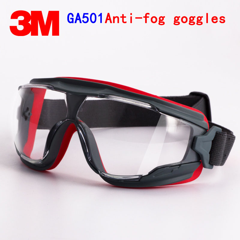 3M GA501 Goggles Genuine Security 3M Protective Goggles Anti-fog Anti-shock Riding A Sport Labor Protection Airsoft Glasses(China)