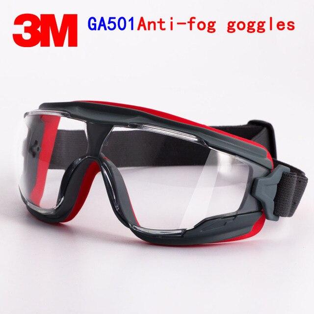 3 м GA501 очки подлинной безопасности 3 м защитные очки Анти-туман Анти-шок для верховой езды Спорт охраны труда airsoft очки