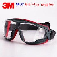 3M GA501 Goggles Genuine Security 3M Protective Goggles Anti Fog Anti Shock Riding A Sport Labor
