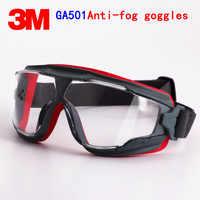 3 M GA501 lunettes de sécurité véritable 3 M lunettes de protection Anti-buée Anti-choc équitation un sport travail protection airsoft lunettes