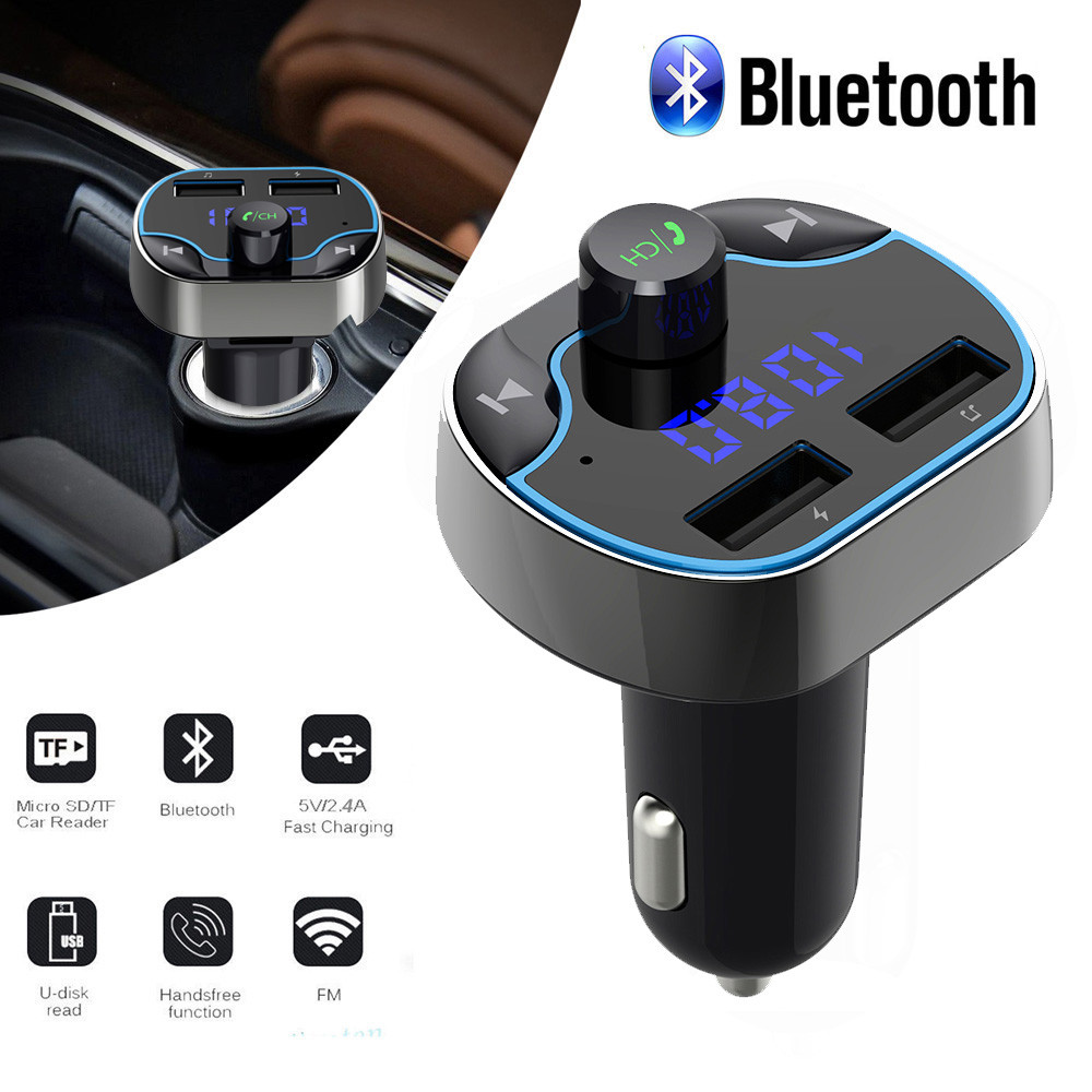 Bluetooth FM Transmitter MP3 Player Wireless Radio Adapter Car Dual USB Charger