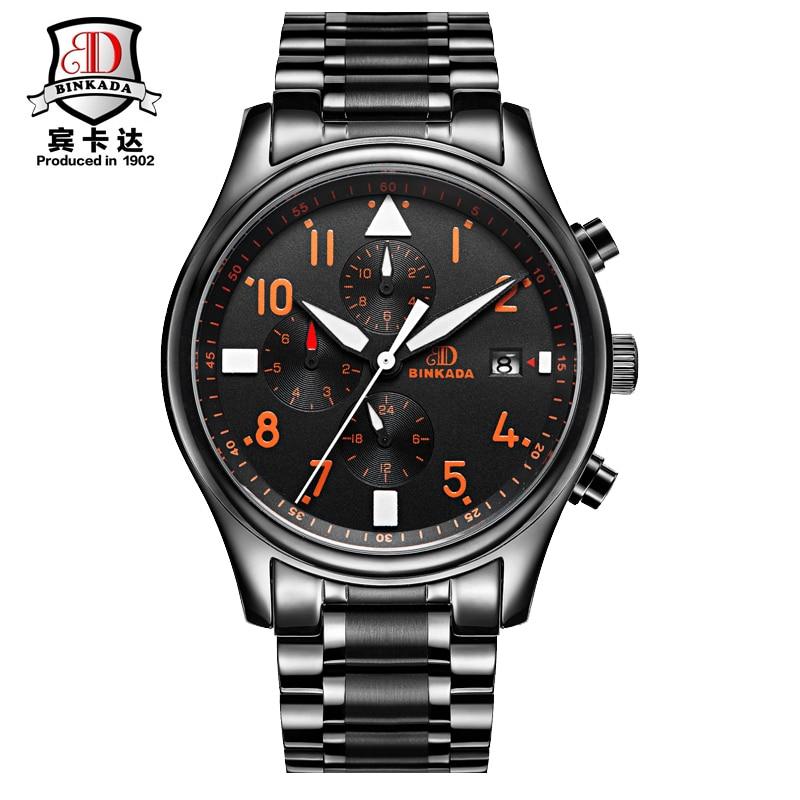 BINKADA Mechanical Watch Cufflinks Men Waterproof Reloj Hombre Relogio Masculino De Luxo Reloj Hombre Stainless Steel Steampunk snobi 2015 reloj relogio 0031