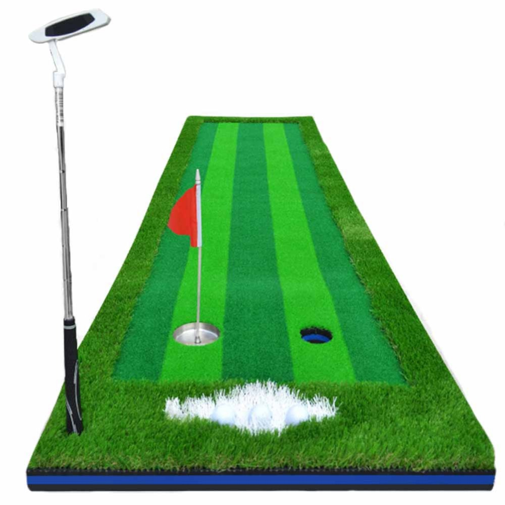 CRESTGOLF 2.5ft*9.84ft Indoor Golf Mats Putting Green Turf Practice Putting Green Golf Training Greens