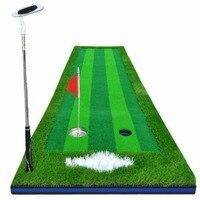 CRESTGOLF 2.5ft*9.84ft Indoor Golf Mats Putting Green Turf Practice Putting Green Golf Training Greens