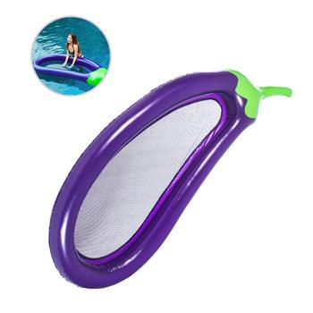 220*110cm letni basen pływający nadmuchiwany bakłażan materac nadmuchiwane koło koło wyspa fajna woda zabawka na imprezę dla dzieci dorosłych tanie i dobre opinie Leorx WOMEN Swimming Rings