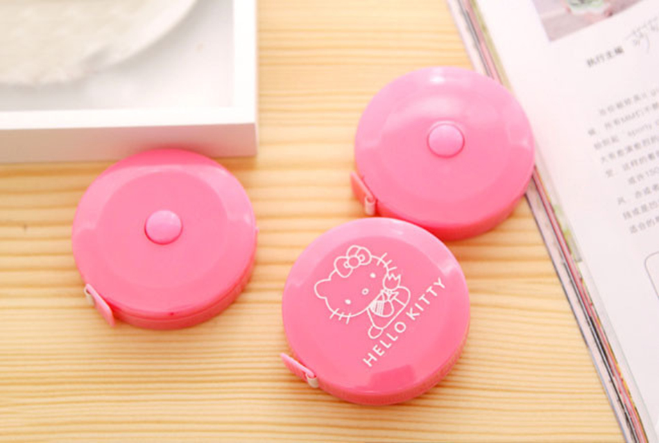 1Pcs 2018 Hot Sale 1.5 Meter Hello Kitty Pink Sewing Measurement Tailor Crafts Ruler Tape Measures.Cloth Dieting Tailor E2040
