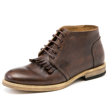 Full Grain Leather Men's Boots Top Quality Ankle Boots for Man Work Boot Real Leather Shoes