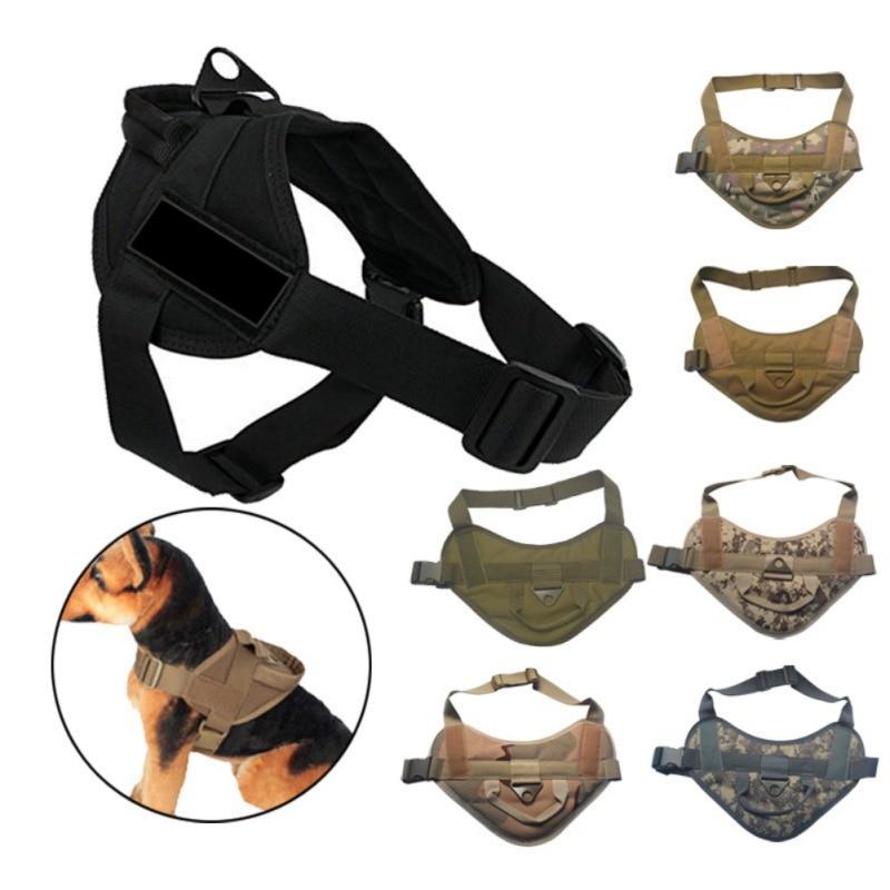 Pet Hot Sale Reflective Rope Nylon Handle Adjustable 7 Colors Large Dog Harness For Small Medium Large Dog Animals